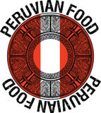 Перуанская иллюстрация еды Стоковые Фотографии RF