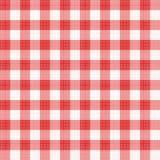 方格花布模式红色重复 免版税库存图片