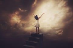 Хваление лестницы Стоковые Изображения