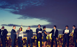 Бизнесмены концепции встречи Нью-Йорка внешней Стоковое фото RF