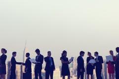 商人纽约室外会议概念 库存图片
