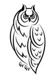 Σκίτσο ενός πουλιού κουκουβαγιών Στοκ Φωτογραφίες