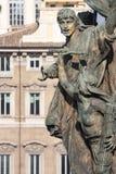 祖国的法坛的雕象在罗马(意大利) 详细资料 免版税库存图片