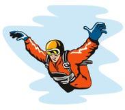 ελεύθερη πτώση με αλεξίπτωτο Στοκ φωτογραφία με δικαίωμα ελεύθερης χρήσης
