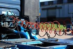 тележка шланга для подачи воздуха Стоковое фото RF