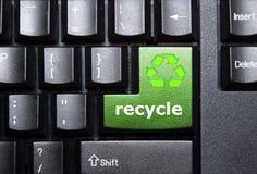 πλήκτρο ανακύκλωσης Στοκ εικόνες με δικαίωμα ελεύθερης χρήσης