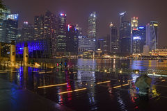 Площадь события прогулки песков залива Марины Сингапура Стоковое Изображение
