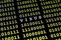计算机病毒 库存照片