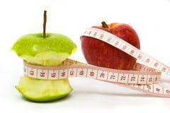苹果饮食结果 库存图片