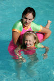 游泳培训 免版税库存图片