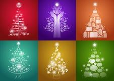 τα στοιχεία σχεδίου Χριστουγέννων που τίθενται το δέντρο Στοκ φωτογραφίες με δικαίωμα ελεύθερης χρήσης