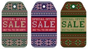 Το πλέξιμο η πώληση Χριστουγέννων διακοσμήσεων σχεδίων Στοκ φωτογραφία με δικαίωμα ελεύθερης χρήσης