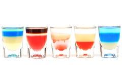 Причудливый коктеиль выпивает коктеили спирта Стоковые Фотографии RF