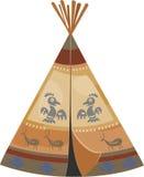 印第安圆锥形帐蓬 库存照片