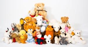小组填充动物玩偶 免版税库存图片