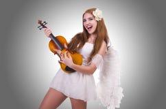 年轻小提琴球员 免版税库存图片