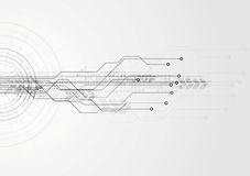 灰色高科技电路板背景 免版税图库摄影