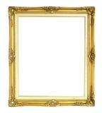 在白色背景隔绝的维多利亚女王时代的样式照片框架 图库摄影