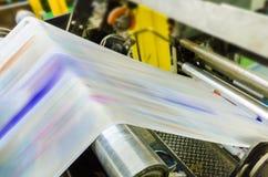 运转的印刷品机器 库存照片