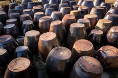 黏土瓶子 免版税图库摄影