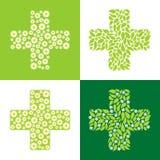 绿色交叉 免版税库存照片