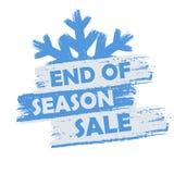 季节销售额的结尾 免版税库存照片