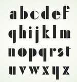 Геометрический ретро алфавит стиля Арт Деко Стоковое Фото