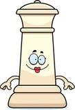 Счастливый ферзь шахмат шаржа Стоковое фото RF