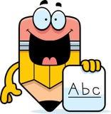 动画片铅笔字母表 免版税库存图片