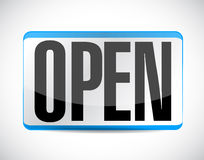 开放标志标记例证设计 库存图片