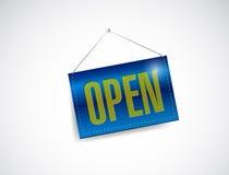 开放标志横幅例证设计 免版税库存图片