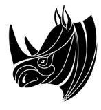 Стилизованная голова носорога Стоковая Фотография RF