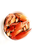螃蟹盘食物行程 库存照片