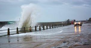 风雨如磐的海的波浪 图库摄影