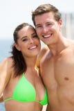 年轻夫妇游泳衣 库存照片