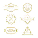 被分类的线葡萄酒减速火箭的徽章和标签收藏 库存照片