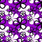 抽象紫罗兰色花无缝的样式 免版税库存图片