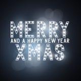 圣诞快乐消息标志 免版税库存图片