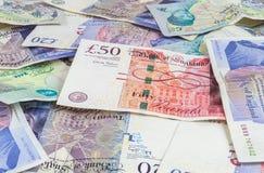 英磅钞票背景 图库摄影