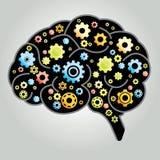 脑子齿轮 免版税图库摄影