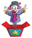 小丑箱子 免版税库存照片