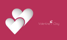 情人节庆祝与心脏的贺卡 免版税库存照片