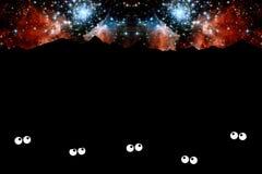 满天星斗的晚上 图库摄影