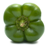 在白色隔绝的绿色甜椒技巧 免版税库存图片