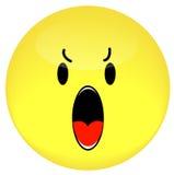 恼怒的表面面带笑容 库存照片