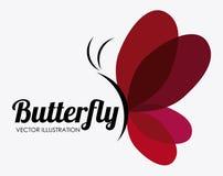 Σχέδιο πεταλούδων, διανυσματική απεικόνιση Στοκ φωτογραφίες με δικαίωμα ελεύθερης χρήσης
