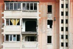 被轰炸的大厦废墟 免版税库存图片