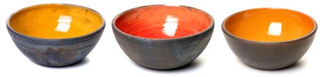 在釉的陶瓷罐 免版税图库摄影