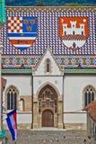 圣马克教会门面垂直视图 库存图片