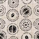 Картина кофе на текстуре холста Стоковое Изображение RF